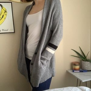 American Eagle Outfitters Gray Varsity Cardigan